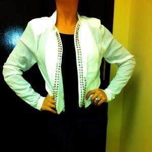 White blazer with studs M L